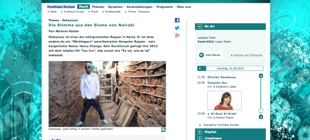 Octopizzo on WDR Funkhaus Europa